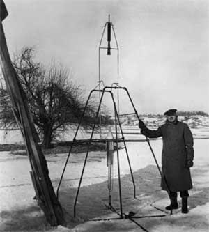 Goddar, el chino, y el primer cohete